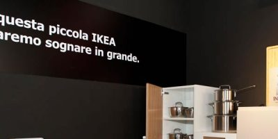 The first Ikea Italian pop up store in Rome.
