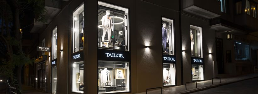 Meregalli Merlo Architects designed the Tailor's store in Athen.