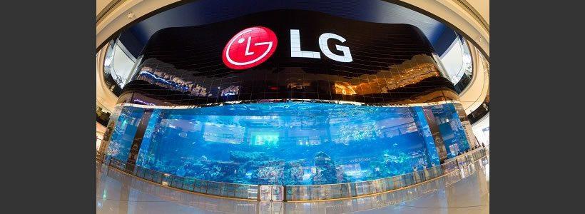 LG mostra a Dubai il piu' grande VIDEO WALL OLED del mondo.