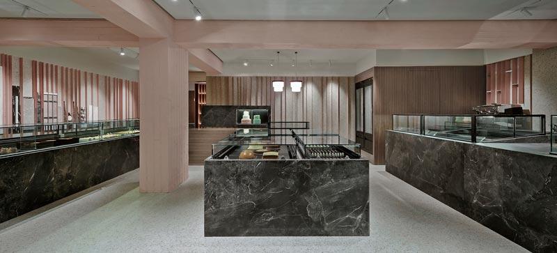 Minas Kosmidis Architect pastry shops interior design
