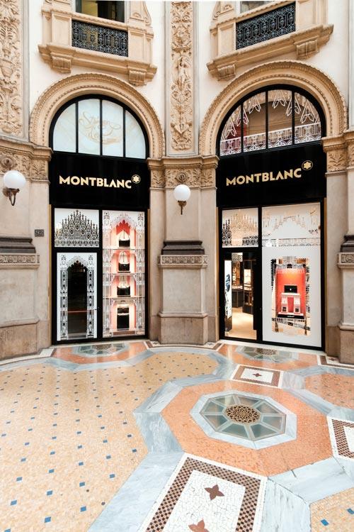 Montblanc boutique Milano Galleria Vittorio Emanuele