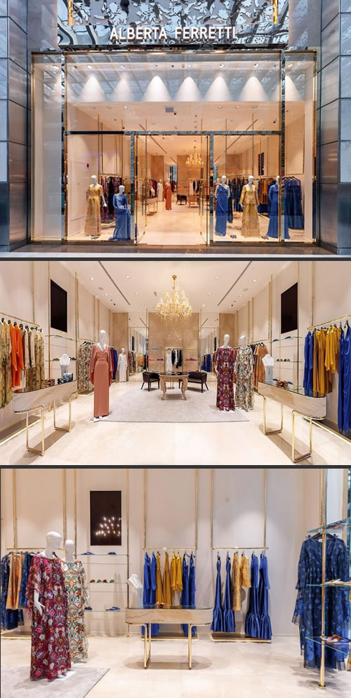 Alberta Ferretti ha inaugurato la prima boutique monomarca a Dubai.