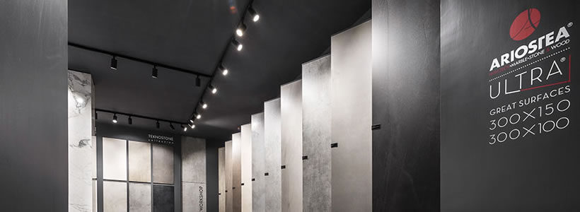 Showroom Ariostea Napoli: luce per il design