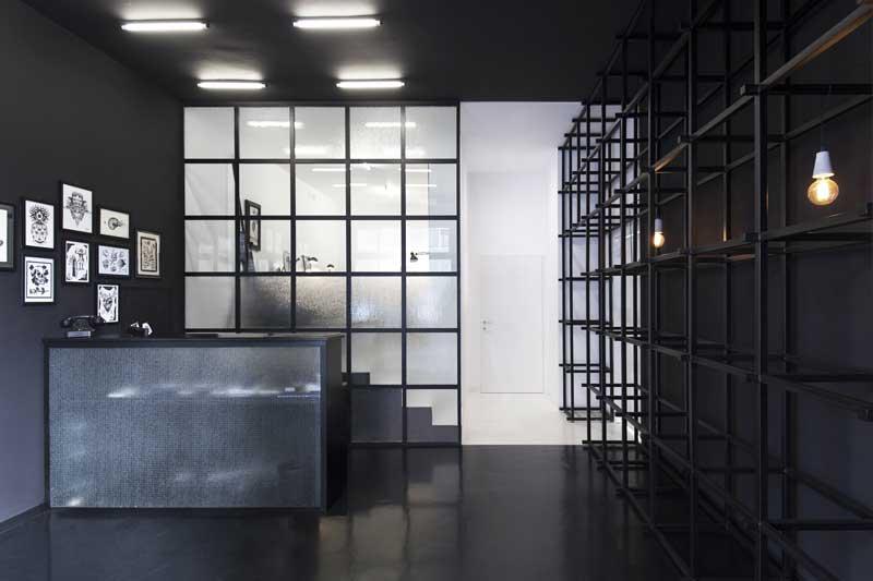 progettazione negozi Studio DiDeA Nerho Tatoo Palermo