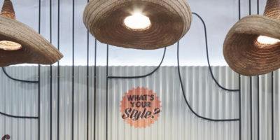 Formafatal progetta gli interni del ristorante messicano Burrito Loco a Praga.
