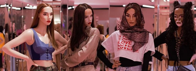 Manichini realistici per la catena di negozi Missguided