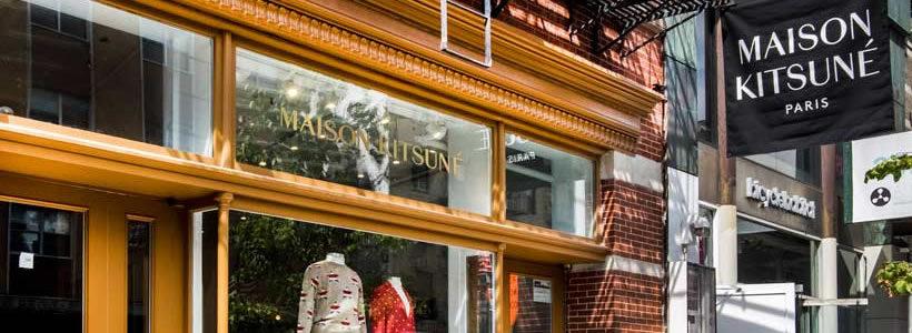 Mathieu Lehanneur progetta il flagship store Maison Kitsuné di New York.