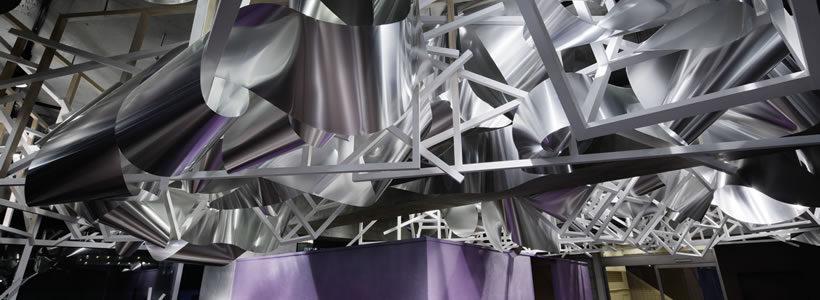 Moriyuki Ochiai designed  the interior  for the 'Crystalscape' Beauty Salon In Tokyo