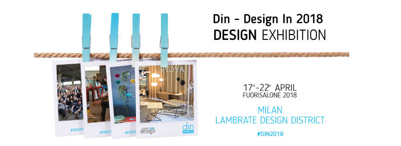 Din – Design in 2018: 2000 metri quadri di design internazionale