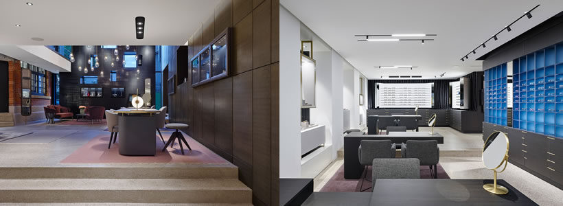 Ippolito Fleitz Group designed Hunke – Jeweller and Optician Shop.