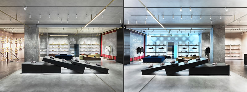 retail design Checkland Kindleysides boutique hogan milano