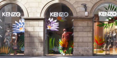 KENZO: una boutique di 215 mq. nel centro di Roma.