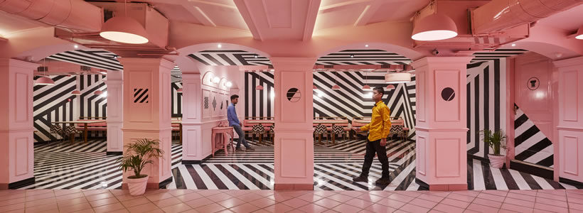 THE PINK ZEBRA Restaurant in India.