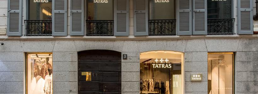 TATRAS flagship store in Milan.