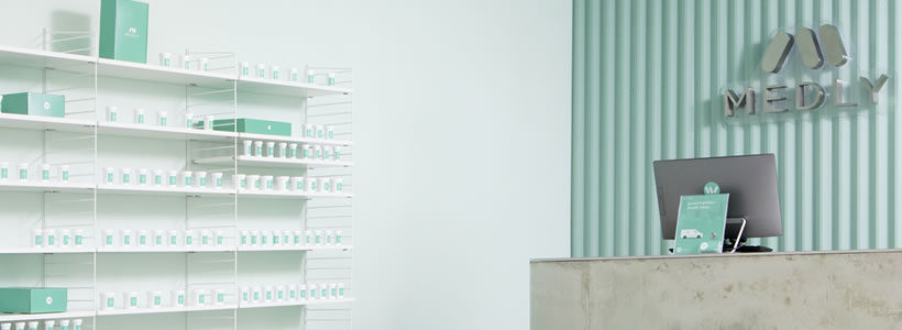 SERGIO MANNINO STUDIO designed the Medly pharmacy in New York