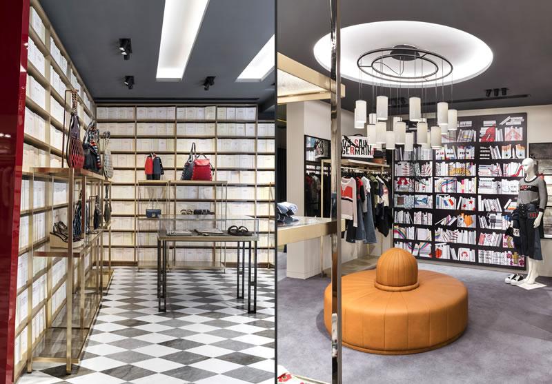 Vudafieri-Saverino Partners designed the new Sonia Rykiel boutique in Madrid