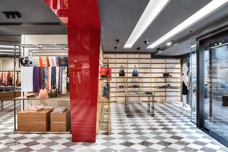 Vudafieri Saverino Partners progetto boutique Sonia Rykiel Madrid