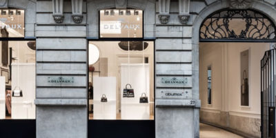 "Delvaux presents ""Le 27"" in Brussels, much more than a boutique."