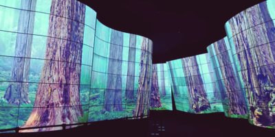 """LG sorprende i visitatori dell'IFA di Berlino con """"LG OLED CANYON""""."""