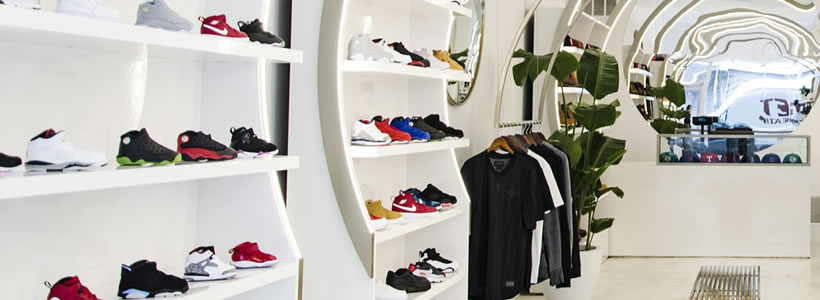 Solestice sneaker store in New York City.