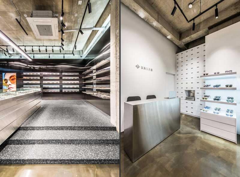 arredamento negozio di ottica Vavas Seoul