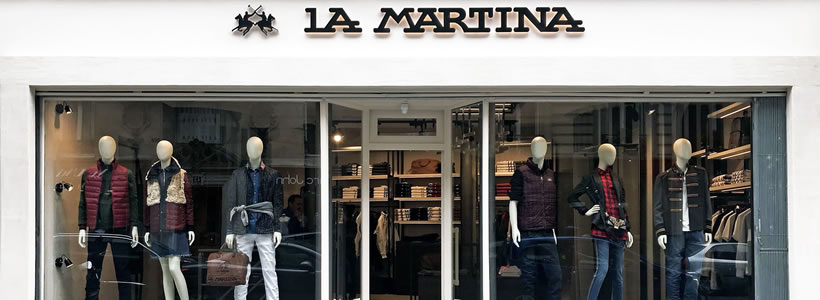 LA MARTINA: primo store a Parigi.