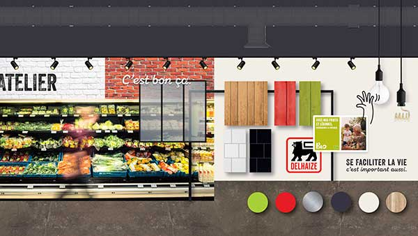 Minale Design Strategy Delhaize new supermarket concept