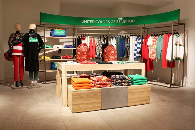 pop up store Benetton da Selfridges Londra
