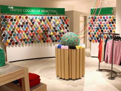 pop up store Benetton da Selfridges Londra