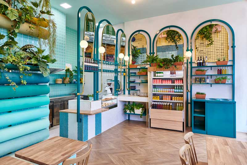 progetto interior design piadineria lione