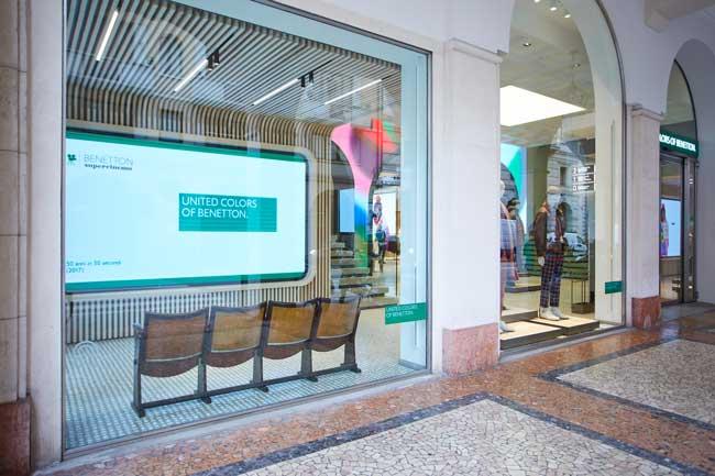 Il nuovo format dei negozi United Colors of Benetton