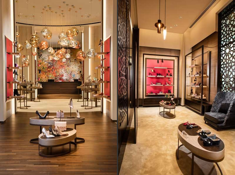 Dobas Ag interior design 51East Shoes and bags boutique Doha Qatar