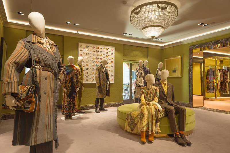 ETRO nuovo concept per la boutique di via Monte Napoleone a Milano