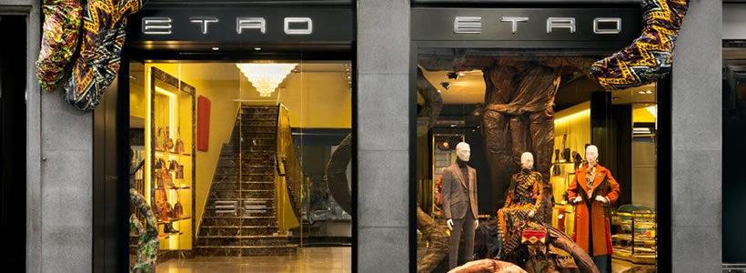 ETRO: nuovo concept per la boutique di via Monte Napoleone a Milano.