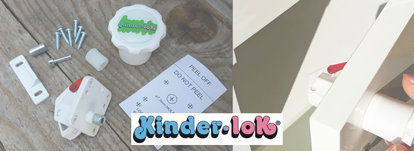 KINDER-LOK invisible magnetic lock.