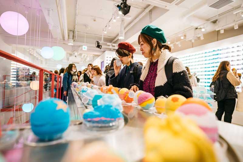 Lush concept store Tokyo Harajuku