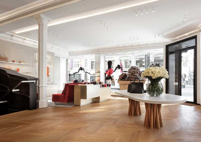 boutique Delvaux Londra progetto Vudafieri Saverino Partners