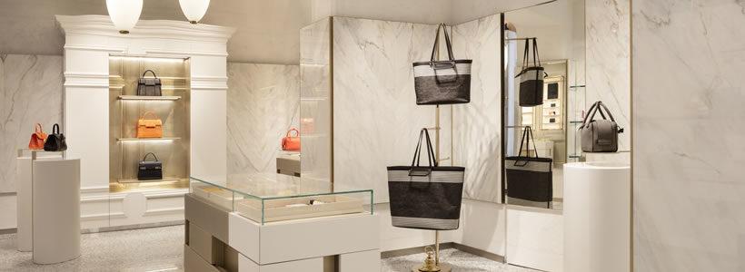 Vudafieri-Saverino Partners progetta la prima boutique italiana di Delvaux.