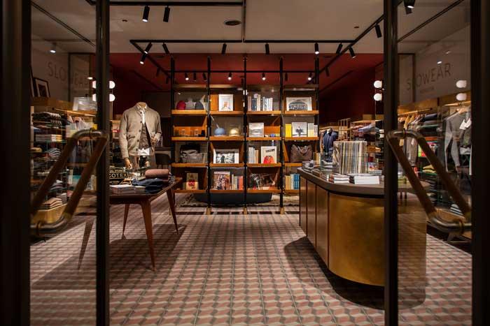 concept retail Slowear Venezia Tokyo progetto di Visual Display
