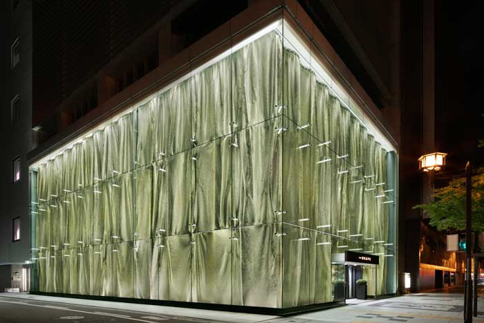 Garde progetto retail design The Drape Osaka