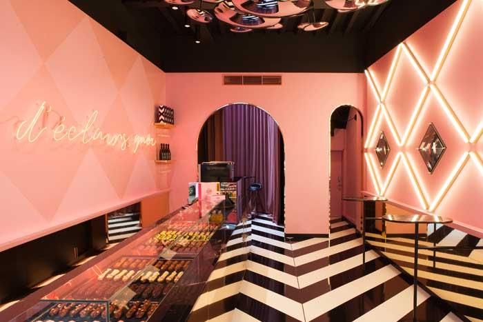 Progetto di interior design per la pasticceria CHEZ CLAIRE di Anversa