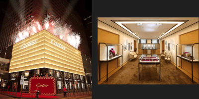 Boutique CARTIER al Prince's Building di Hong Kong.