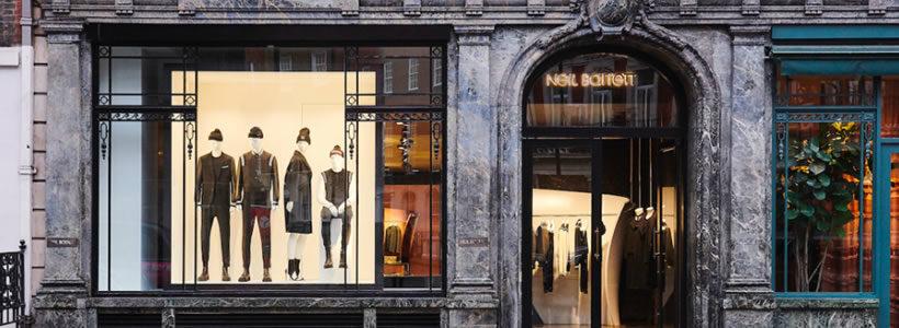 Una boutique a Londra per NEIL BARRETT.