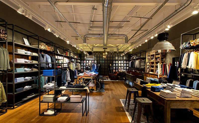 interior design della boutique Brooks Brothers di Londra