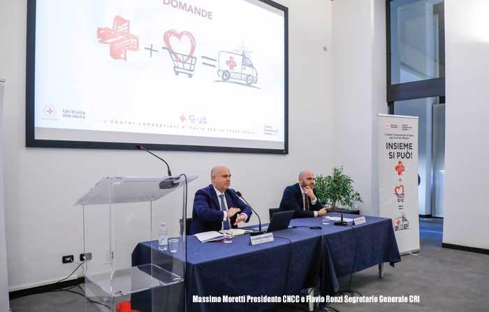 collaborazione tra la Croce Rossa Italiana e i Centri Commerciali d'Italia associati al CNCC