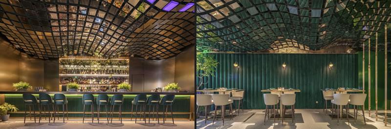 Hejidesign Progetto bar ristorante Oasi Shenzhen