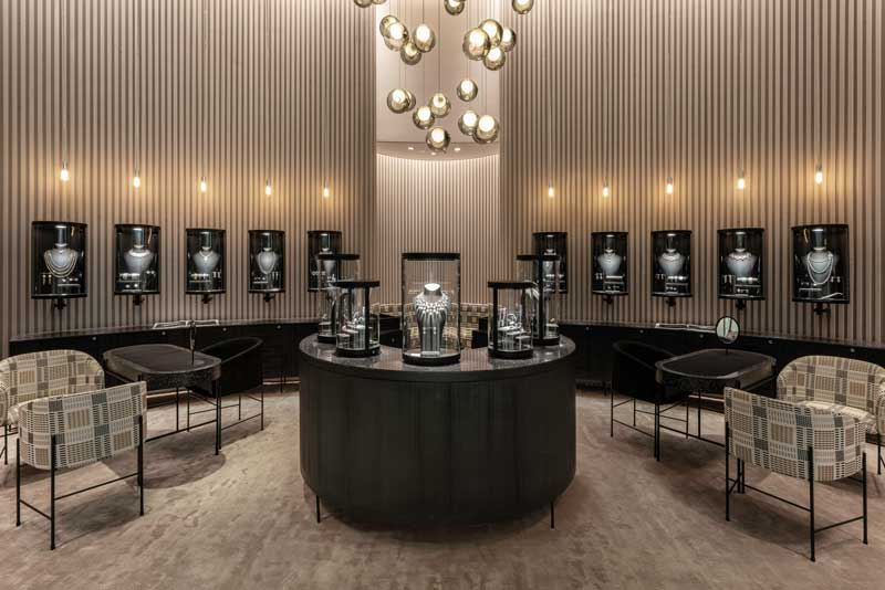 Atelier du Pont interior design Burma Jewelry Boutique