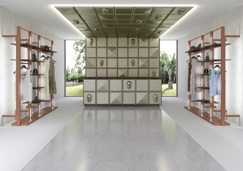 3D Wall modular and revolutionary furnishing system for shopfitting