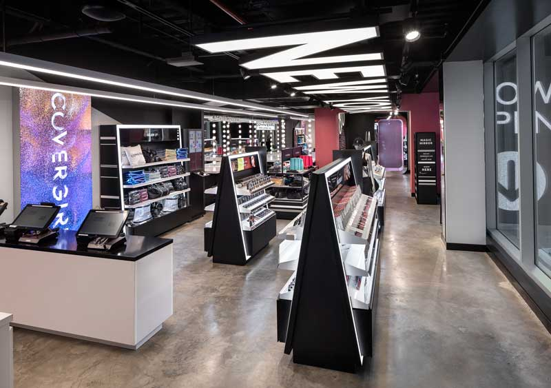 FRCH NELSON designed Covergirl retail space