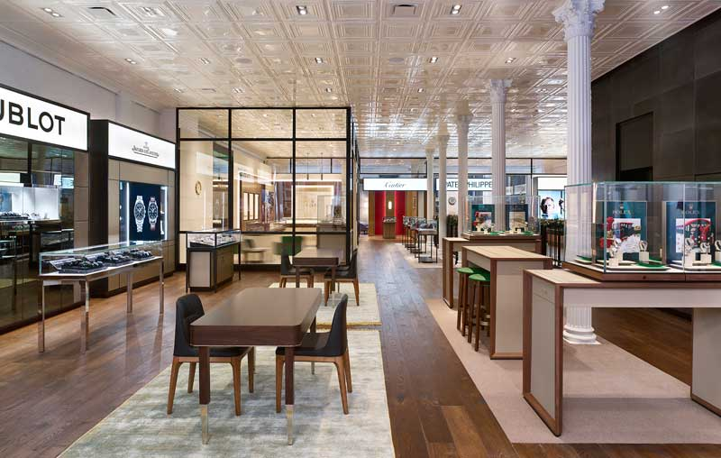 London-based design consultancy CAPELO and New York-based MNA have collaborated to design the new flagship store for Watches of Switzerland